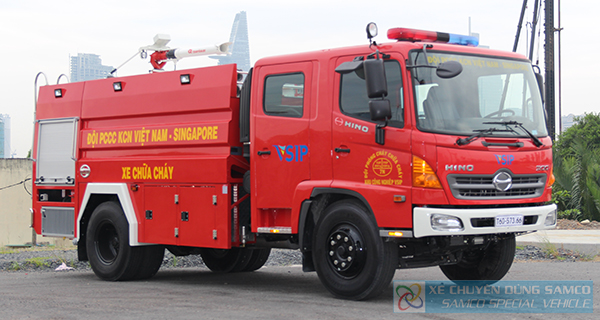 VSIP Industrial Park received 01 firefighting truck made by SP.SAMCO